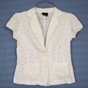 White Eyelet Jacket, size S